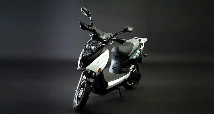 Angle shot of black electric bike